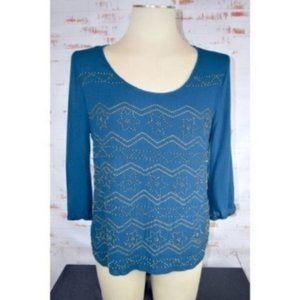 Stitch Fix Skies Are Blue Chilam Bead Detail Top